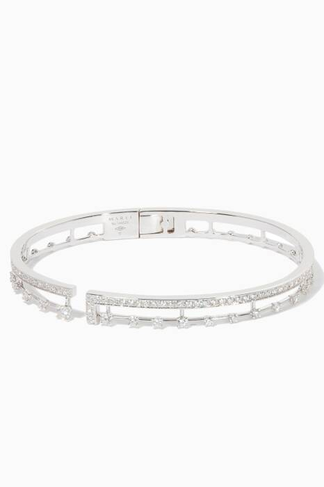 White-Gold & Diamond Avenue Bangle