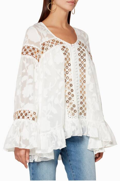 White Stephanie Oversized Blouse
