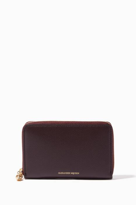 Oxblood Medium Continental Leather Wallet