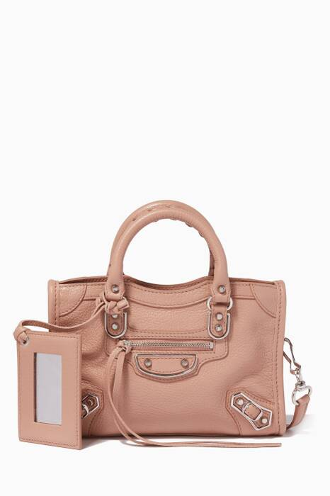 Rose Des Sables Nano Classic Metallic Edge City Cross-Body Bag
