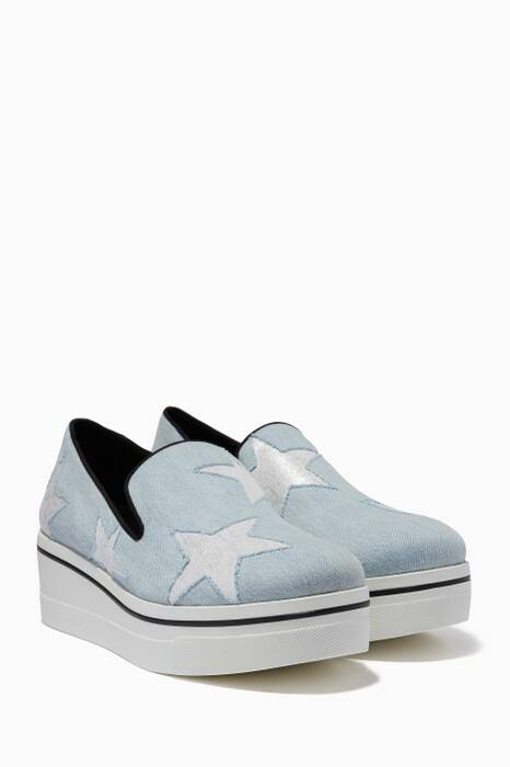 Blue Denim Star Binx Loafers
