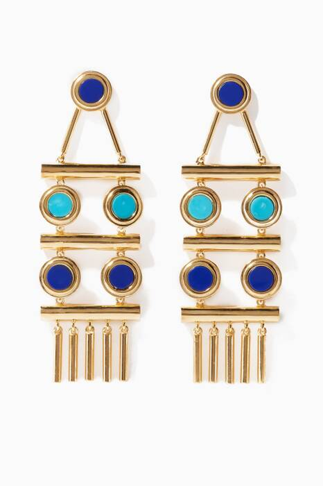 Gold Tribal Statement Earrings