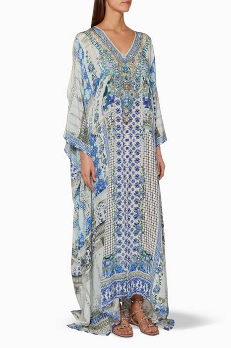 Multi-coloured Salvador Summer Split Front & Sleeve Kaftan