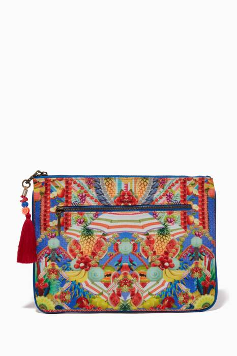 Multi-coloured Small Rio Riot Printed Clutch