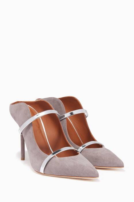Grey Suede Classic Point Toe Maureen Mules