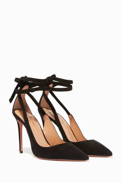 Black Milano Suede Pumps