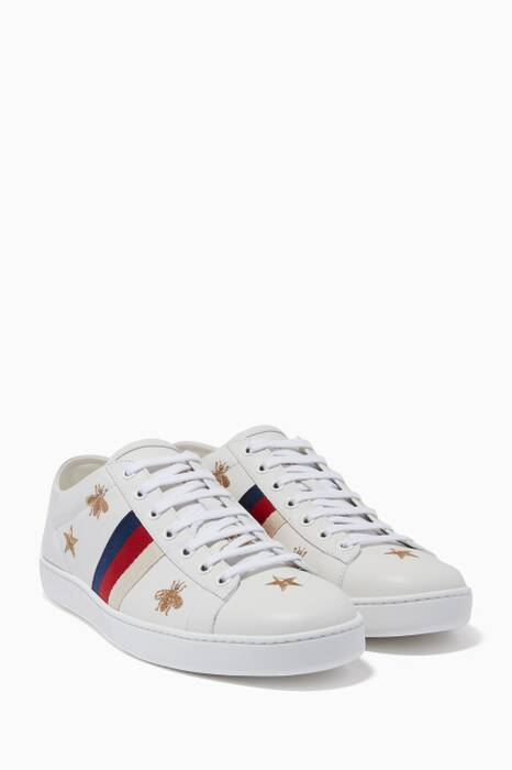 White Ace Sylvie Bee & Star Embroidered Sneakers