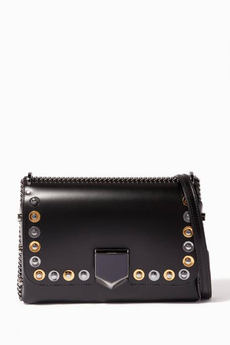 Black Lockett City Disc Studded Shoulder Bag