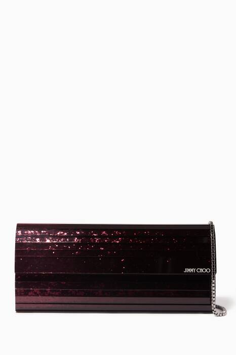 Dark-Red Sweetie Dégradé Glitter Clutch
