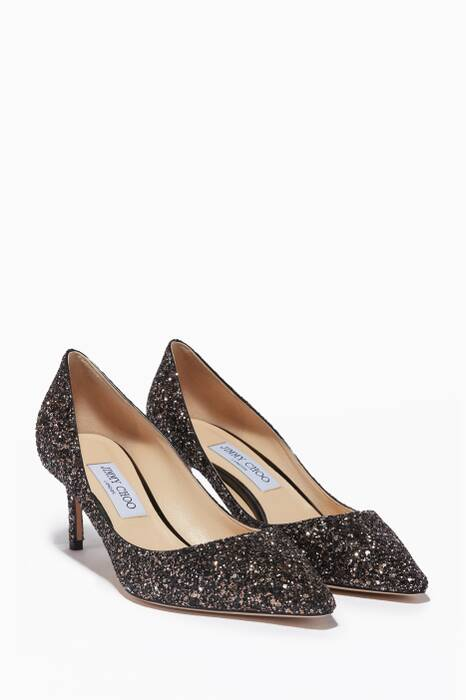 Gold Glitter Romy 60 Pumps