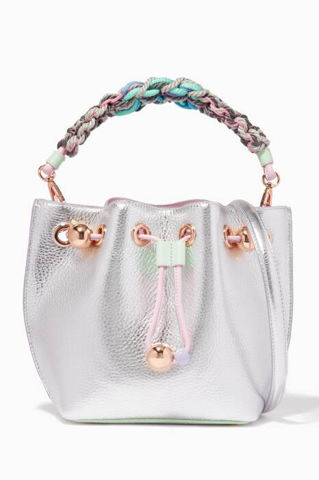 Silver Mini Romy Bucket Bag