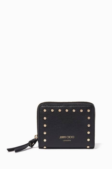 Black Regina Studded Wallet