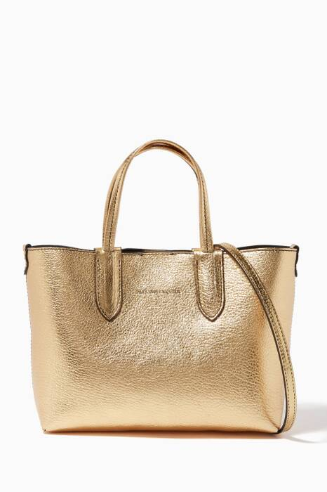 Metallic-Gold Shopper Tote Bag