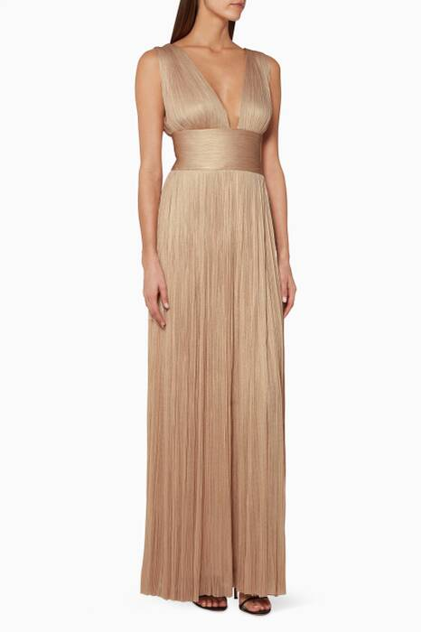 Metallic-Beige Liah Gown
