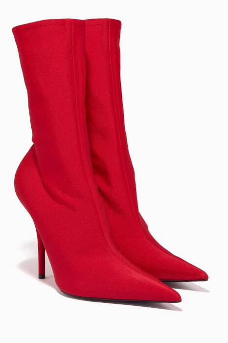 Red Knife Spandex Ankle Booties