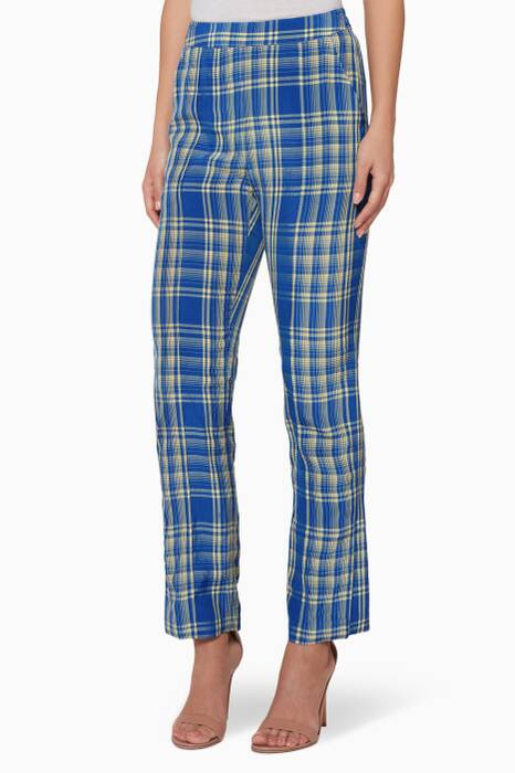 Blue Gingham Oboe Pants