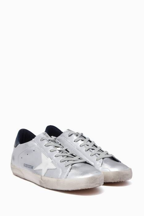 Silver Metallic Low-Top Superstar Sneakers