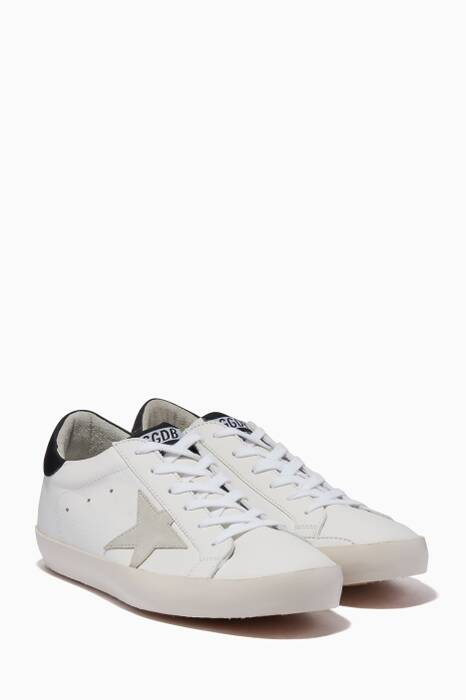 White & Black Classic Contrast Low-Top Superstar Sneakers