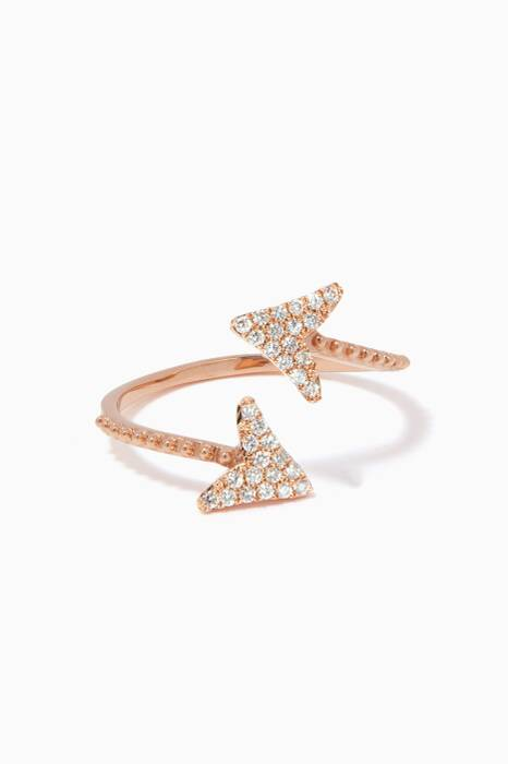 Rose-Gold & Diamond Eros Arrow Ring