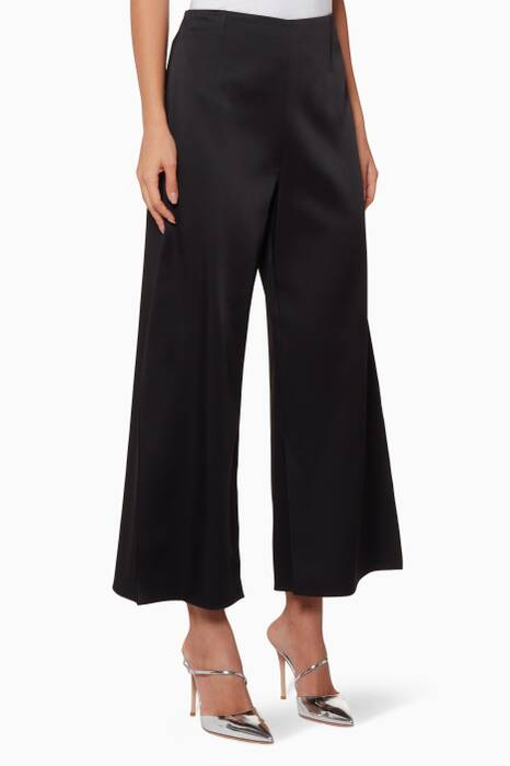 Black Glover Wide-Leg Pants