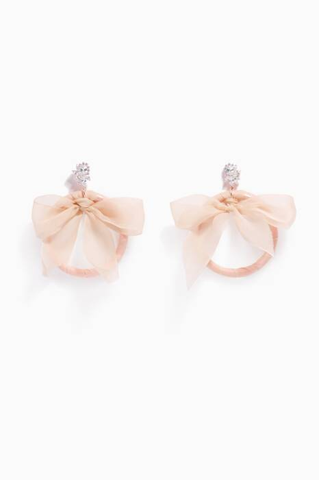 Ballet Slipper Monach Tuxedo Bow Earrings