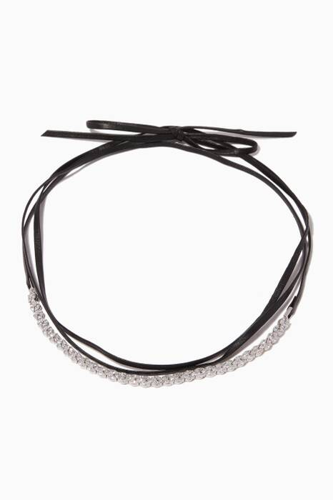 Black Micro Marquis Fish-Tail Choker