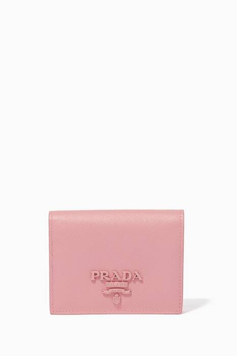Pink Small Monochrome Fold-Over Wallet