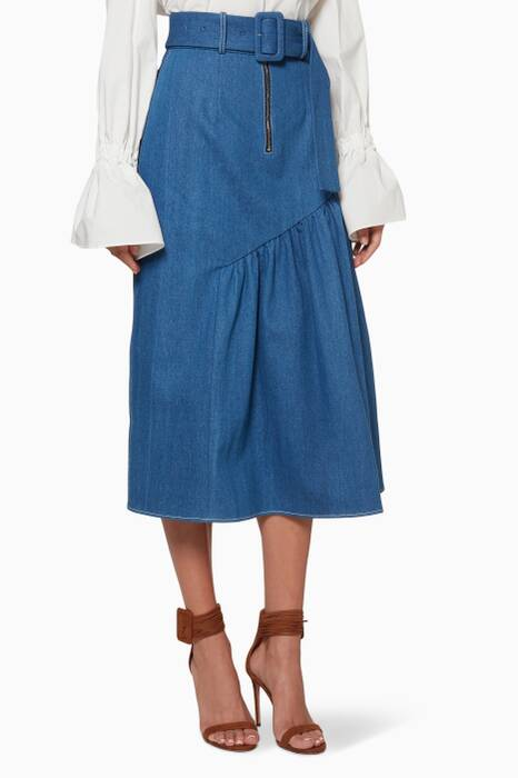 Denim Blue Bonnie Gathered Skirt