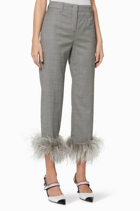 Grey Feather Pyjama Pants