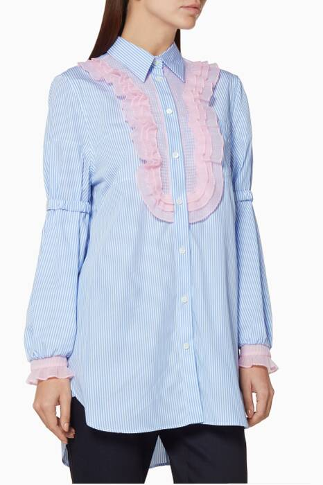 Blue Balloon Sleeve Shirt