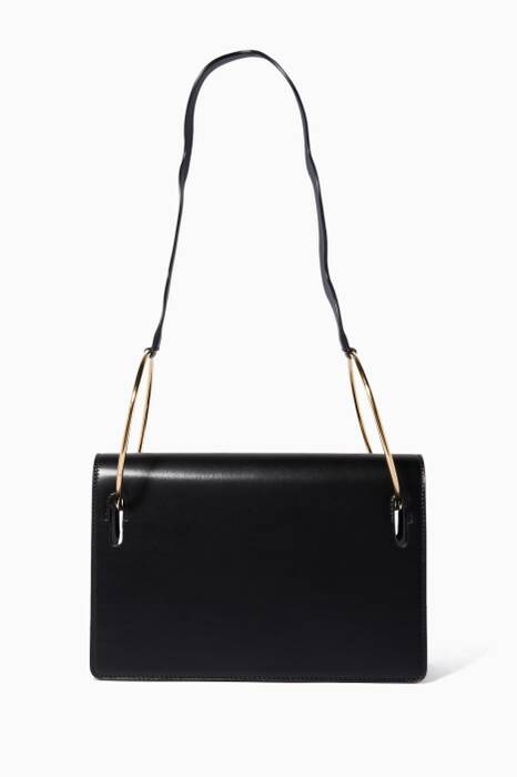 Black Dora Leather Shoulder Bag