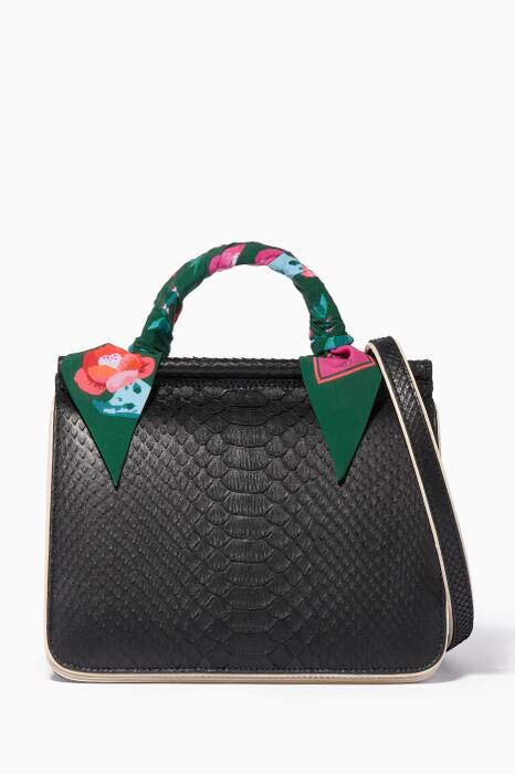 Black Mini Stella Top Handle Bag