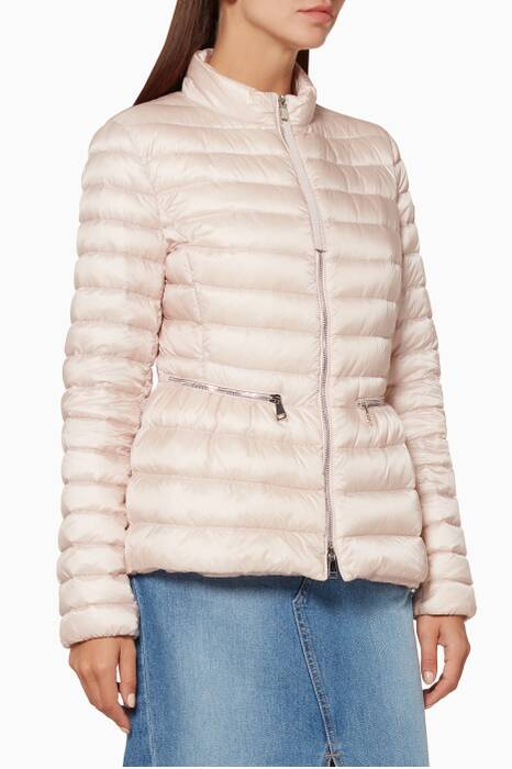Light-Pink Agate Quilted Jacket