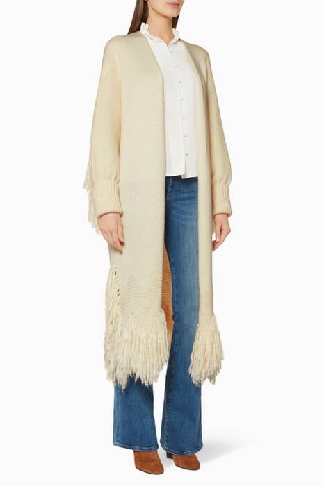 Cream Shaggy Cardigan