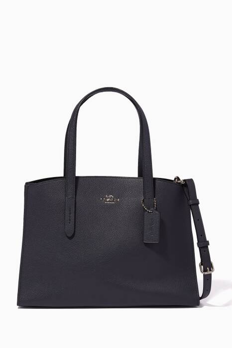 Midnight Navy Medium Charlie Tote Bag