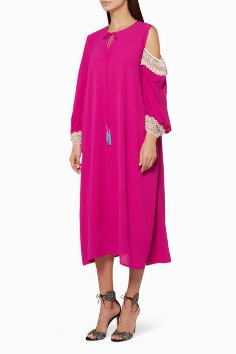 Fuchsia Long Dress