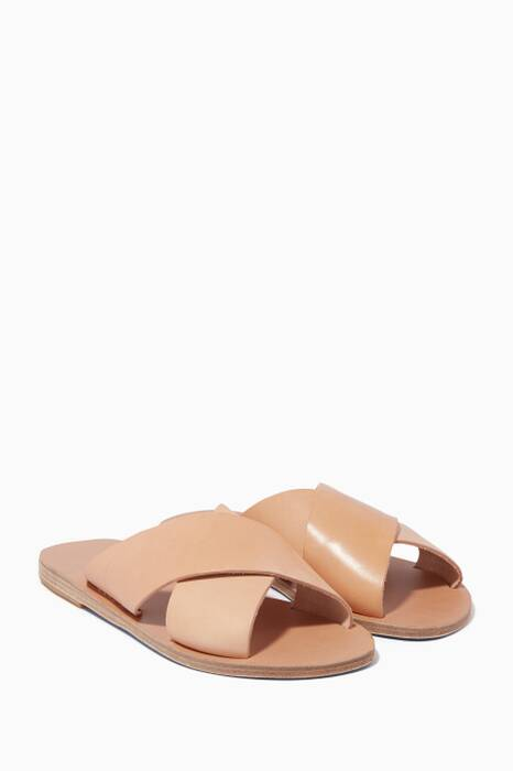 Light-Beige Chios Criss-Cross Sandals