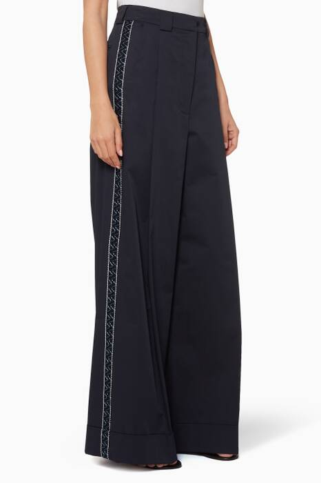 Navy High-Waisted Aeolus Pants