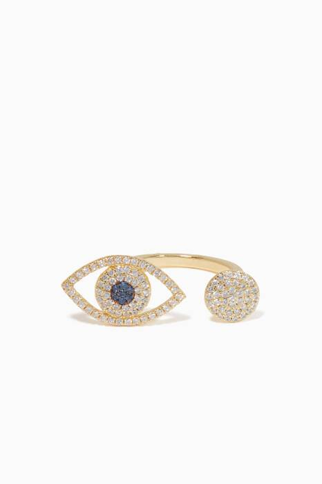 Gold Lucky Eye Ring