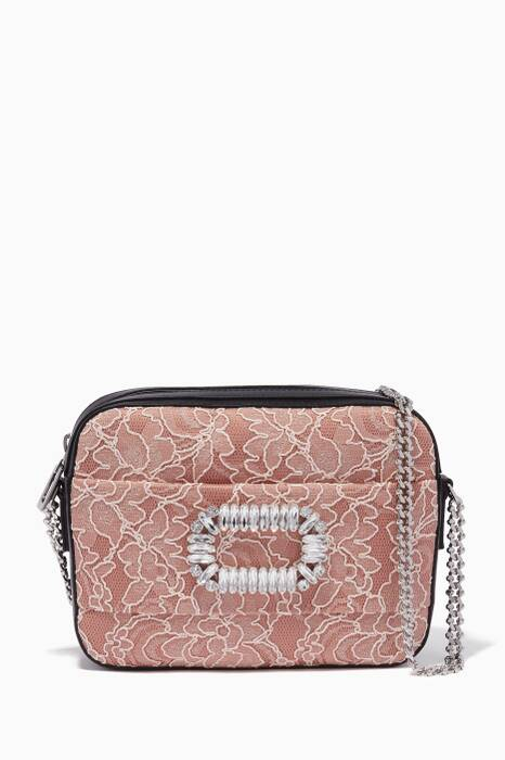 Light-Pink Lace Photocall Shoulder Bag