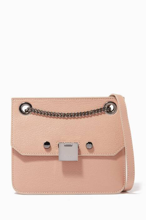 Beige Rebel/XB Leather Shoulder Bag