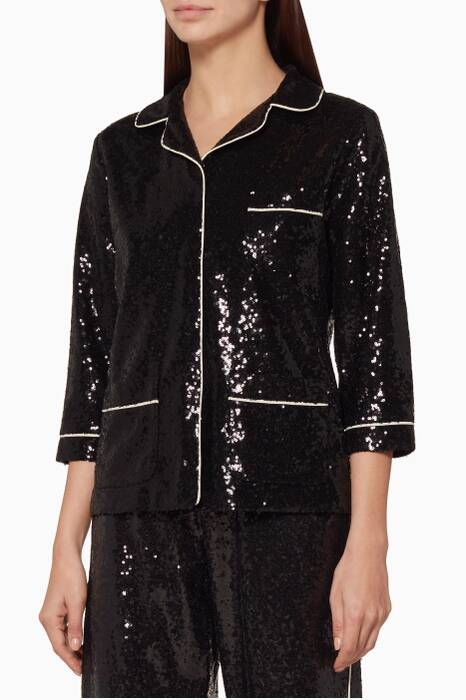 Black Embellished Sofia Jacket