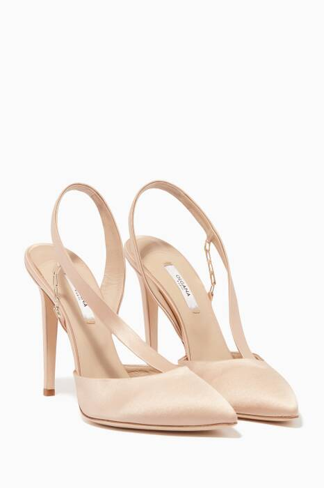 Blush Satin La Favourite Point-Toe Pumps