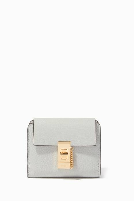 Airy-Grey Small Square Drew Wallet