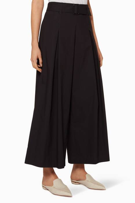 Black Pleated Aurgia Pants