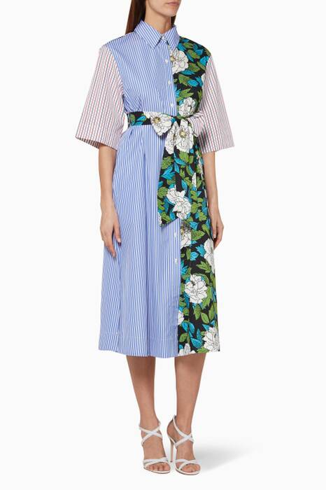 Blue Boswell-Print Maxi Dress