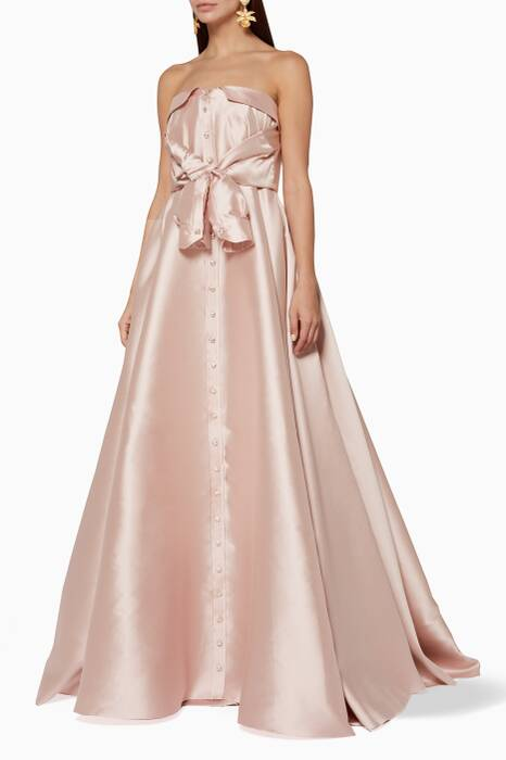 Light-Pink Pleated Kurkova Dress