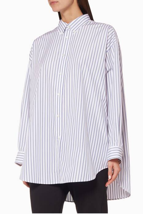 White Tag Striped Shirt