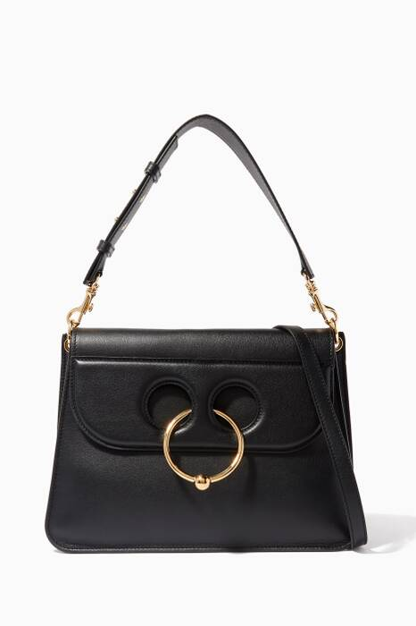 Black Medium Pierce Shoulder Bag