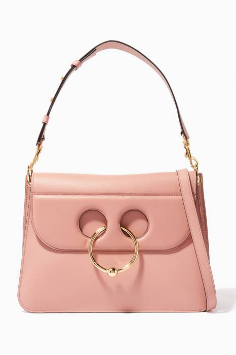Light-Pink Medium Pierce Shoulder Bag